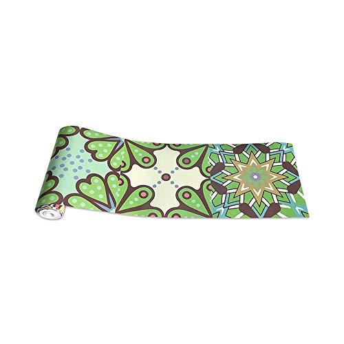 JMSHTU Azulejo pegatinas cocina baño frontera autoadhesiva verde clásico Europa DIY pared Peel Stick extraíble decoración impermeable piso pegatina