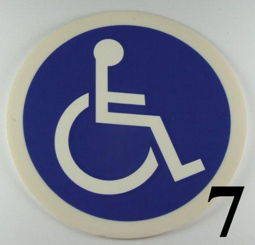 'eCobbler Schild Behinderten Rollstuhl Zugang–Kreis Rollstuhl Symbol (Lager Code 7blau backgroound)