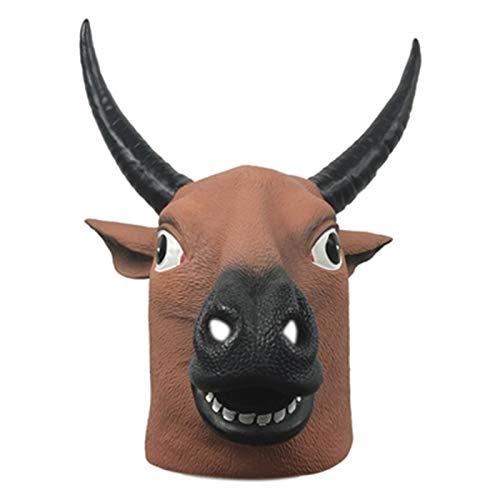 NHP Sombrero de Vaca Divertido, mscara de Animal, Sombrero de Vaca Tonto, Accesorios de Rendimiento Lindo para Fiestas navideas(Color:A)
