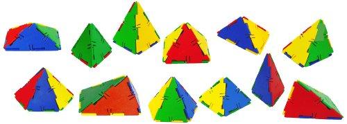 Miniland - Conexion: Set pirámides, 53 Piezas en contenedor (32122)