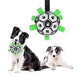 Kriogor Hundespielzeug Ball, Interaktives Hundebälle Hund Wasserspielzeug Fußball für Kleine und Mittelgroße Hunde