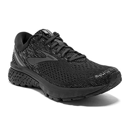 Brooks Womens Ghost 11 Running Shoe - Black/Ebony - B - 11.0