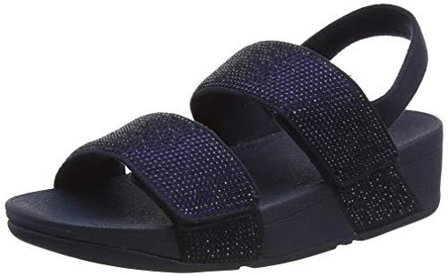 Fitflop Mina Adjustable Sandal-Crystal Hotfix, Sandalias deslizantes Mujer