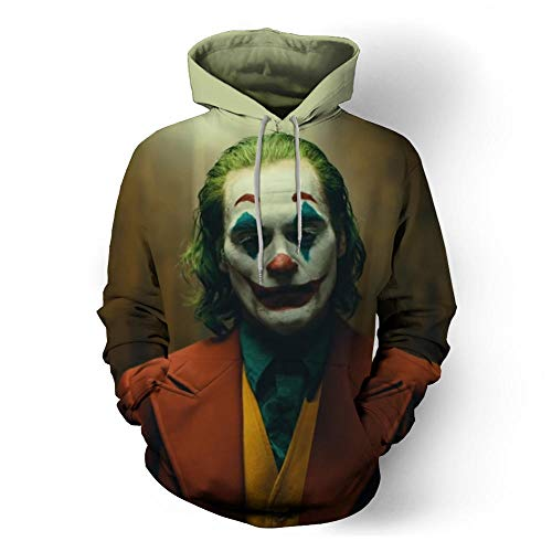 tangximing Película Joker Joker Suicide Squad Impresión 3D Moda Confort Sudadera con Capucha Unisex Deportes Individualidad Sweater_Clown Bust_M