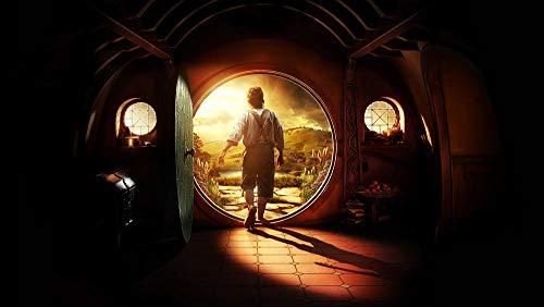 Slbtr Kits De Números De Diamantes Redondos 5D Diy - El Señor De Los Anillos-El Hobbit - Ideal Para El Hogar, La Oficina, La Decoración De Paredes 11,8 × 15,75 Pulgadas