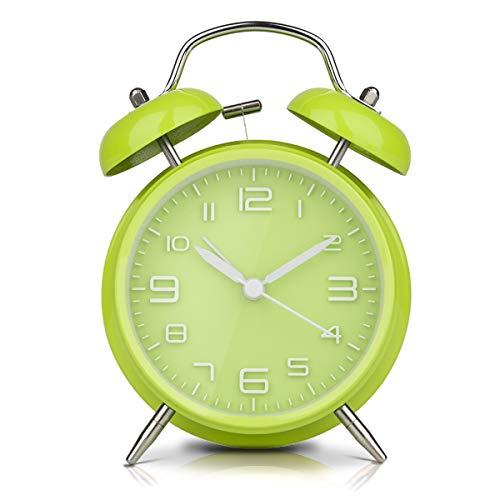 LATEC Reloj Despertador de Doble Campana con luz Nocturna, Gran Esfera de...