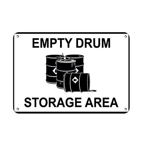 No dream Tin Sign Warning Sign Empty Drum Storage Area Business Sign Warehouse Signs Room Metal Poster Wall Decor