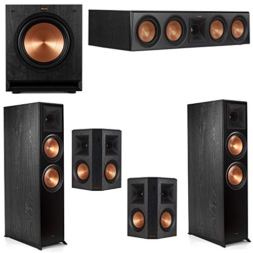 Purchase Klipsch 5.1 Ebony System with 2 RP8060FA, 1 RP504C, 2 RP502S, 1 SPL-100 Sub