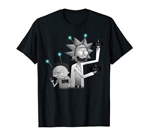 Rick and Morty Shirt Peace among World T-Shirt T-Shirt