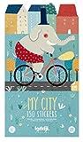 My City 150 Stickers I Kinder Stickerbuch I Wiederverwendbare Aufkleber I Wiederbenutzbarer Stickerblock I Ablösbare Sticker I Reusable Sticker Book I Immer Wieder Stickerbuch I...
