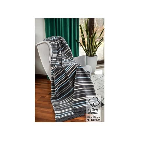 Kuscheldecke Cotton Cloud | Decke | Wohndecke | Sofadecke | Couchdecke Uberwurf Kuscheldecke Flauschig | Plüschdecke Tagesdecke | Kuscheldecke Grau | Housie Otto Grau 150x200