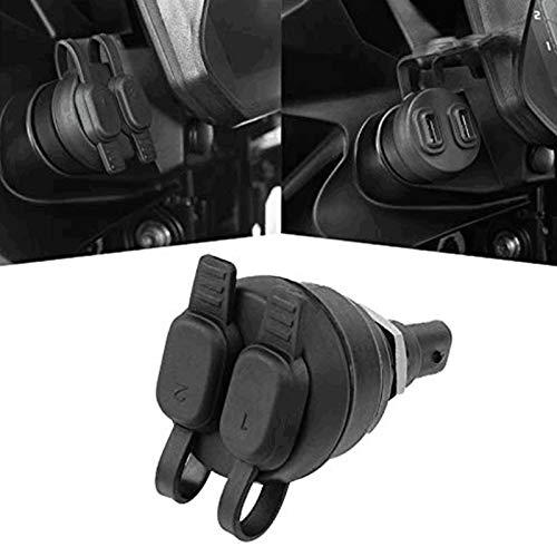 Moto 2 Porte USB Caricatore Per BMW F650GS F700GS F800GS F800GT F850GS F900R F900XR G310GS K1300GT K1300S K1600GT K1600GTL R1250GS Adventure R1200GS LC R1200RT LC RnineT S1000XR