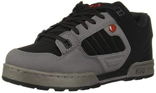 DVS Men's Militia Snow Skate Shoe, Charcoal Black RED Nubuck, 7 Medium US