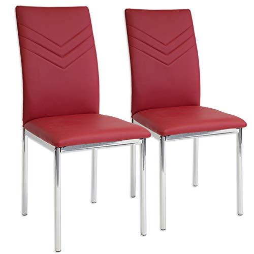 Albatros 2925 Verona 2 x Esszimmerstühle rot
