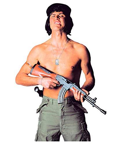 Dimensioni: circa 75 x 16 cm. Materiale: plastica. Pistola giocattolo dall'aspetto realistico.