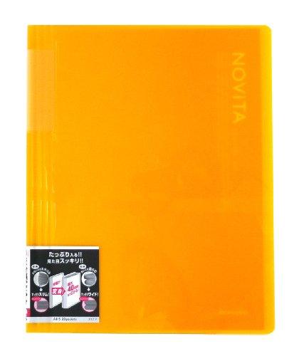 コクヨ ファイル クリアファイル ノビータ 固定式 A4 20ポケット 黄 ラ-N20Y
