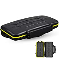 JJC Deluxe 24 Slots Memory Card Case Holder Box Container for SD Micro SD SDXC Micro SDXC SDHC Micro SDHC TF Card, Travel-Friendly Memory Card Organizer with Water-Resistant & Shockproof Function