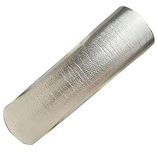 BTHAO Pannelli Coibentati Isolanti, Termoriflettente Termosifone Isolamento Termico, per L uso su Tetti, Pareti, Pavimenti, per Migliorare L efficienza(Size:1x20m 3.2x65.6ft)