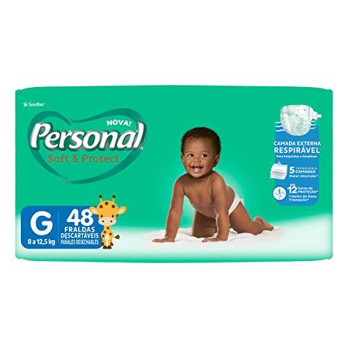 Fralda Descartável Soft and Protect Mega, Personal, Grande, 48 unidades (Embalagem pode variar)