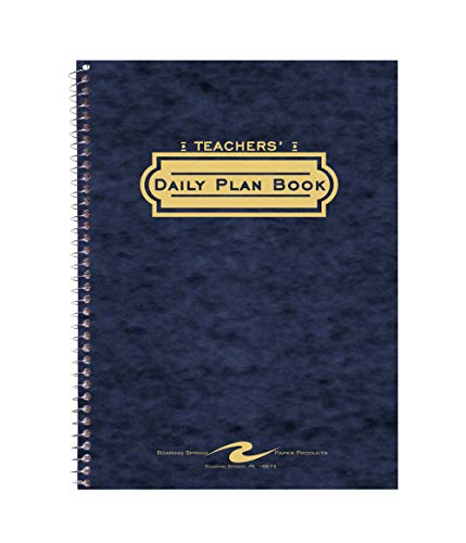 Roaring Spring Teacher's Daily Planner Spiral Book, 11' x 8.5' 56 Sheets, Assorted Colors