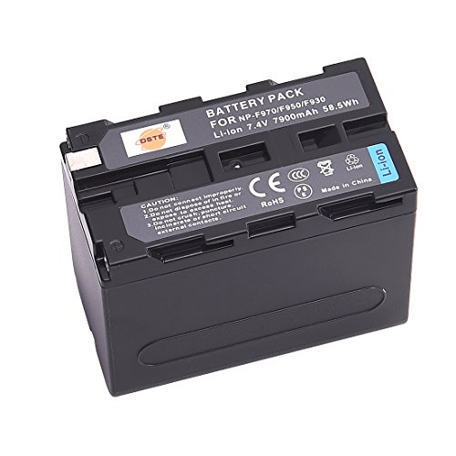 DSTE Replacement for NP-F970 Li-ion Battery Compatible Sony DCM-M1 MVC-CD1000 HDR-FX1 DCR-VX2100E DSR-PD190P NEX-FS700RH HXR-NX3 Camera as NP-F930 NP-F950 NP-F960