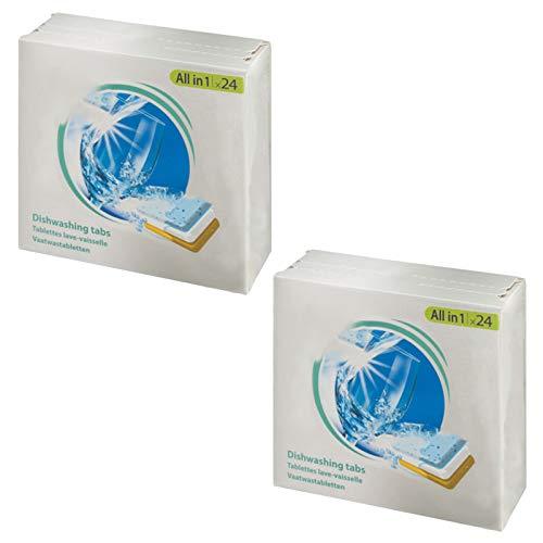 SPARES2GO All in 1 azione Disincrostante calcare Pastiglie per lavastoviglie (confezione da 48)