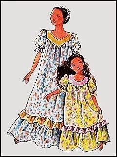 Child's Classic Hawaiian Muumuu Dress Sewing Pattern #104