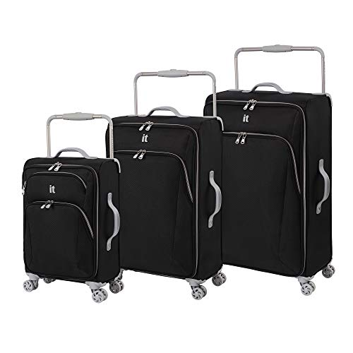 it luggage Sprightful World's Lightest Softside Spinner, Dark Grey, Checked-Medium 28-Inch