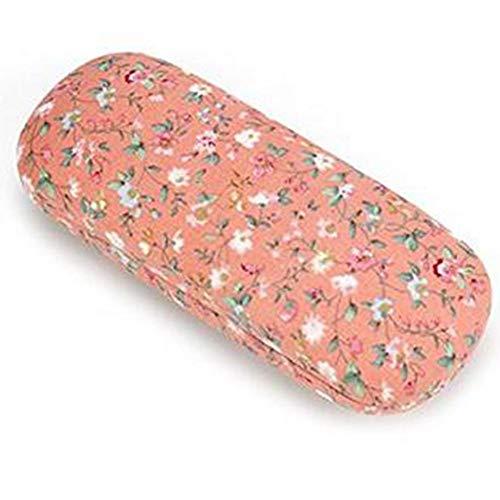 ABUKY Funda para gafas de poliuretano con diseño de flores, 16,5 x 6,5 x 3,5 cm, color rosa