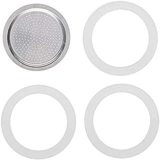 Huante Accesorios para Cafetera Yishi de 50 Ml, 3 Juntas y 1 Filtro para Cafetera de Aluminio 1 Taza