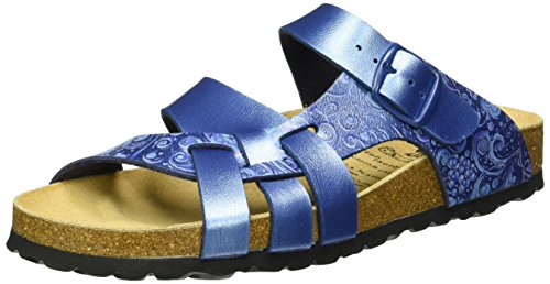 Lico BIOLINE FLORA Damen Pantoletten, Blau, 38 EU