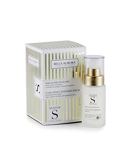Bella Aurora Splendor Sérum Efecto Flash Facial Anti-Arrugas Tratamiento Anti-Edad para Mujer Día y Noche, 30 ml