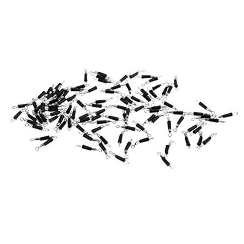 Tenlacum Anillo de clip de cambio rápido de acero inoxidable con conexión rápida, para pesca giratoria, accesorios de aparejos de pesca (100 piezas) (M)