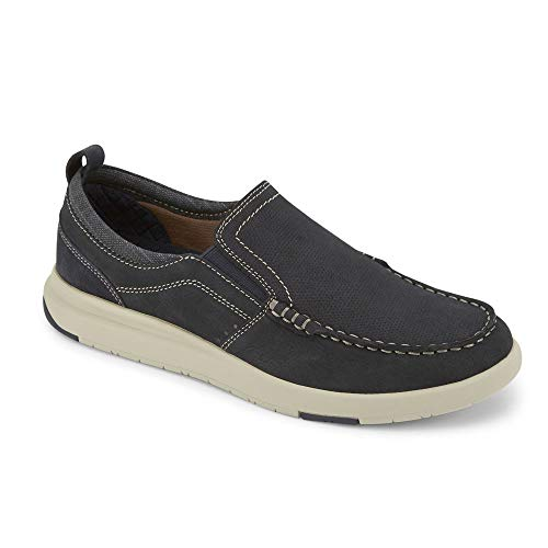 Dockers Mens Collins Leather Casual Loafer Shoe, Navy, 8.5 M