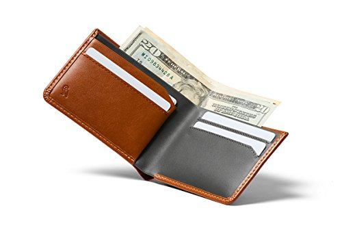 Bellroy Low Wallet (Thin Leather Bifold Wallet, Low Profile, Holds 4-12 Cards, Flat Note Storage, Hidden Pocket For Extra Business Cards) - Caramel