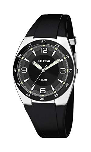 Calypso Herren Analog Quarz Uhr mit Plastik Armband K5753/3