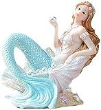 LIUBINGER Escultura Sirena Princesa Estatua Escultura Acuario embellecedor estatuilla estatuillas estatuillas Interior decoración Interior jardín al Aire Libre Resina decoración Regalo Manualidades