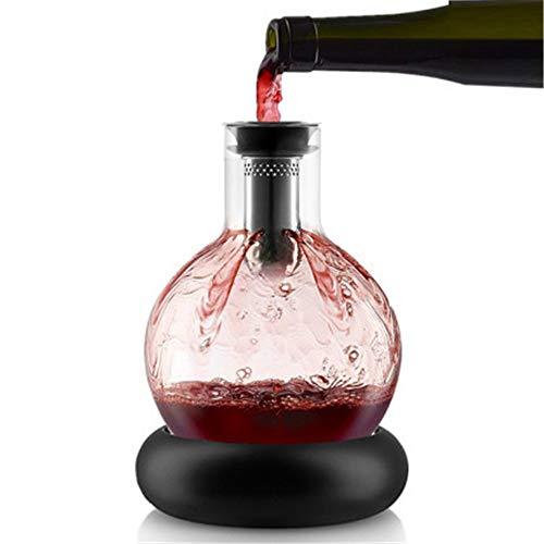 LIYANG Decantador De Vino Hogar Fast Red Wine Cascada Jarra del Vino del dispensador con la Base del Filtro Frío Jug (Color : Photo Colors, Size : 1500Ml)