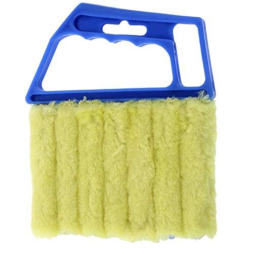 7 Finger Dusting Cleaner Tool, Mini Hand-held Blind Duster Brush, Microfiber Window Cleaning Brush, Air Conditioner Duster Cleaner Housework Tool (B)