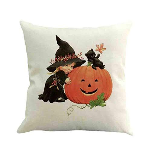 Halloween Ghost Pillow Case Sofa Waist Throw Cushion Home Decor,Yanhoo Copricuscini e federe,Cuscini Decorativi,Protezioni per Cuscini,per Halloween, Natale, San Valentino, Anniversario,Fidanzamento