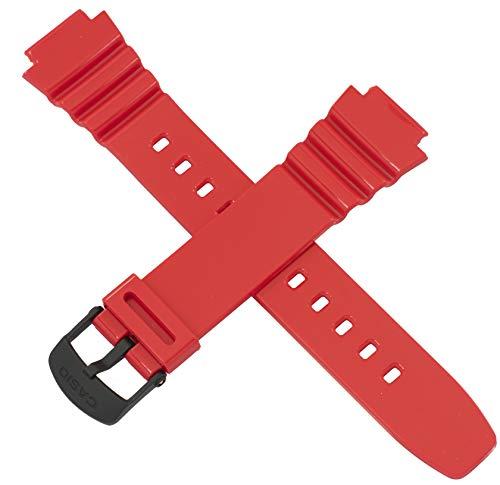 Casio - Correa de reloj para W-214HC W 214HC 214HC 214 RED 10409324