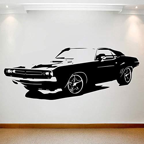 Etiqueta engomada clásica de la pared del coche, arte mural, habitación para adolescentes, coche, decoración del hogar, calcomanía, vinilo, adhesivo de fondo extraíble, Mural 147x57cm