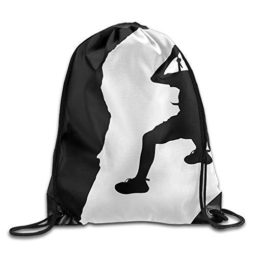 Etryrt Zaino con Coulisse,Borsa Palestra,Sacca Sportiva, Rock Climbing Cartoon Unisex Outdoor Rucksack Shoulder Bag Sport Drawstring Backpack Bag