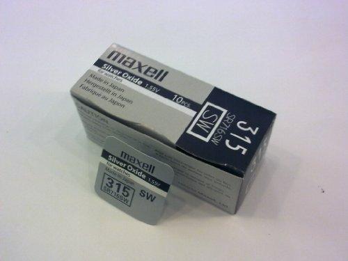 Maxell 315 - SR716SW (1.55V) - Caja de 10 Pilas de óxido de Plata