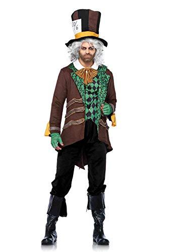 Leg Avenue - Costume da Cappellaio Matto, Uomo, Taglia: XL, Colore: Marrone
