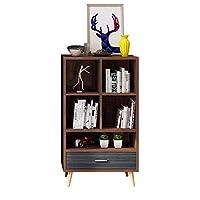 家具装飾棚本棚引き出し付きロッカーブック収納棚コンパートメント家具リポジトリマネージャー4色(色:Cサイズ:23.62 * 11.81 * 42.12in)