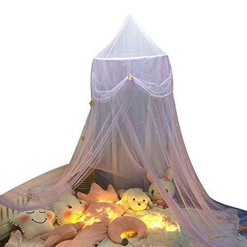Baldachim Do łóżka Dla Dziecka, Tiul W Kształcie Gwiazdy Motyla Dla Dzieci łóżko Dziecięce Z Baldachimem W Kształcie Kopuły, Wiszący Namiot Z Moskitierą Purpurowy Jeden Rozmiar