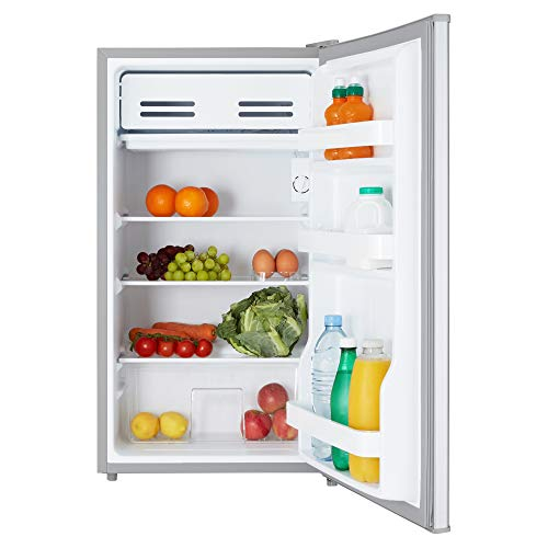 Cookology UCIF93SL Under Counter Freestanding Fridge 47cm wide with chiller box A+ Energy rating (Silver)