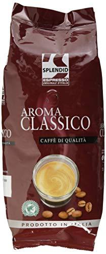 Splendid Espresso Originale d'Italia Classico, 1kg Bohnenkaffee, ganze Bohne, aromatischer Espresso mit ausgewogenem Geschmack