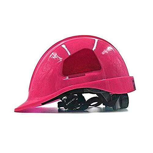 ZBM-ZBM Elektriker-Schutzhelm, Höhe-Ausdauer-Baugerüst Steeplejack-Kletterarbeit-Schutzhelm-Schutzhelm Mit Kinnriemen Arbeitsschutzhelm (Color : Pink)